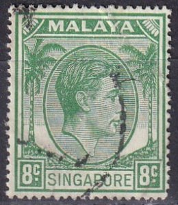 Singapore #8 F-VF Used  CV $3.00 (Z3940)