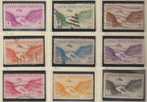 U.S. Canal Zone Scott #C6-C14 Airmail Possession Stamp - Mint & Used Set