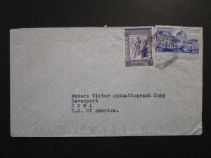 Mozambique 1950s Cover to USA w/ Values to 10E - Z3927