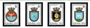 Gibraltar 574-77 MNH 1990 Royal Navy Ship Crests