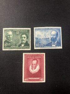 Chile Scott 249-251 MNH