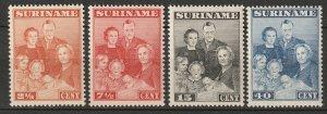 Suriname 1943 Sc 176-9 set MNH