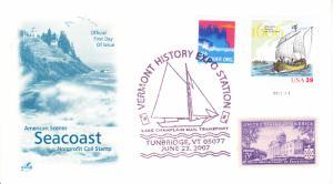 2007 Vermont Lake Champlain Mail Transport Tunbridge VT Pictorial Artcraft