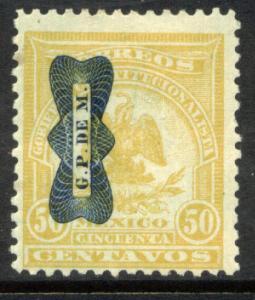 MEXICO 572, 50¢ DENVER WITH CORBATA OVERPRINT. UNUSED, H OG. VF.