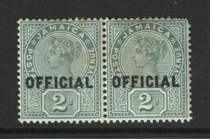 Jamaica SG# O5, Pair, Mint Hinged, Hinge Remnant, some toning - S1374