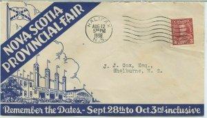 Nova Scotia Provincial Fair 1936 Illustrated advertising Cover Canada