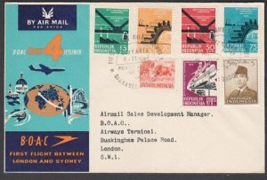 INDONESIA 1959 BOAC first flight cover to London.................... .......N420