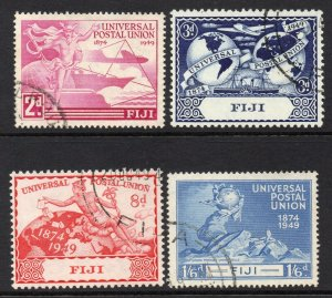 Fiji 1949 UPU set SG 272-275 used