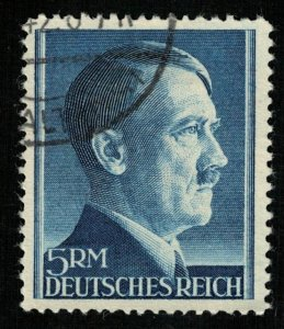 1942, Deutsches Reich, Adolf Hitler, 5 ReichMark, perf. 14, CV $1070 (T-6281)