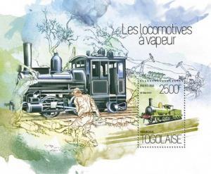 Togo 2013 Classic Steam Locomotives Stamp Souvenir Sheet 20H-845