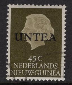 Netherlands West New Guinea UNTEA  #13 UN temporary authority 1962 cancelled 45c