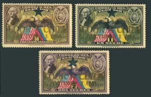 Ecuador 444-446,MNH.Mi 567-569. Visit of President Juan A.Rios,1945.Eagles.