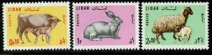 Lebanon 1965 Animals set Sc# 440-42 NH