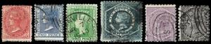 New South Wales Scott 61-63, 65-66, 68 (1882-91) Used G-F, CV $35.95 B