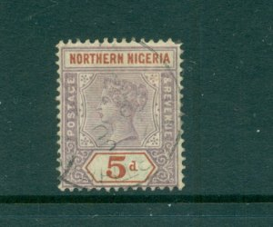 Northern Nigeria - Sc# 5. 1900 Victoria 5p Used. $70.00.