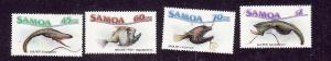 Samoa-Sc#692-5-Unused NH set-Marine Life-1987-please note there is a  spot of gu