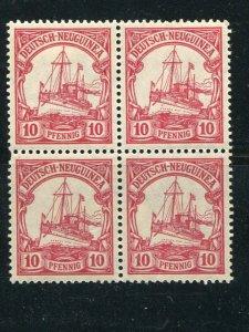 Ger, New Guinee Mi#9  Block 4  Mint NH/LH  VF - Lakeshore Philatelics