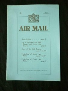 AIRMAIL RATES AND ROUTES 1929 - REPRINT