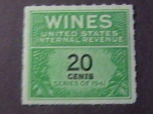 U.S.# RE130-MINT/NEVER HINGED---WINE STAMP---1942
