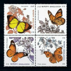 [98887] Bangladesh 1990 Insects Butterflies  MNH