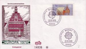 German FDC Sc.# 1272 Europa 1978 L521