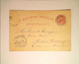 South Africa (Transvaal) 1897 Postal Card to Germany - Z724