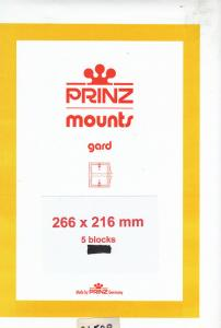 PRINZ CLEAR MOUNTS 266X216 (5) RETAIL PRICE $16.50