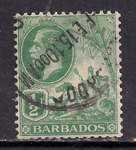 Barbados 1912 - 16  KGV 1/2d Green used stamp SG 171 ( C312 )