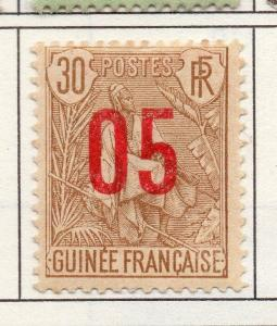 French Guinea 1912 Early Issue Fine Mint Hinged 05c. Surcharged 193453