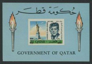 Qatar 1966 50np John F Kennedy S/S Sc# 102B mint