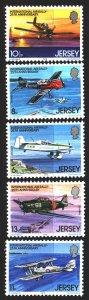Jersey. 1979. 198-202. Aviation, aircraft. MNH.