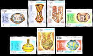 Cambodia Scott 1159-1165 Mint never hinged.