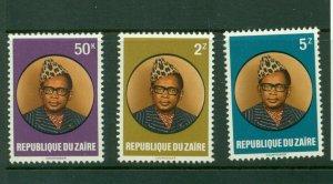 Zaire #1053-56 (1982 Mobutu set) VFMNH CV $3.25