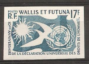 Wallis and Futuna Islands 153 1958 Human Right IMPERF NH