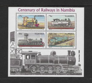 TRAINS - NAMIBIA #777a   MNH