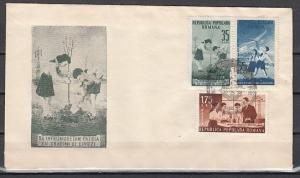 Romania, Scott cat. 933-935. Pioneer`s Activities issue. First day Cover.