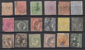 Queensland QV Collection Of 18 Fine Used JK6330