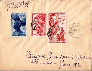 French West Africa 1F Donkey Caravan, Senegal, 6F Fula Woman, French Guinea, ...