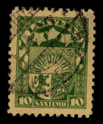 Latvia Scott 144 Used coat of arms stamp