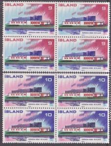 ICELAND 1973 Nordic Co-operation set blocks of 4 MNH........................2467