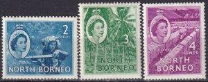 North Borneo #262-4 F-VF Unused  CV $7.00 (Z3939)