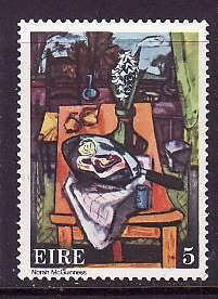 Ireland-Sc#360-unused NH set-Paintings-Kitchen Table-1974-