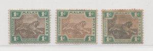 Malaya Federated Malay States - 1900-01 - SG15,15b - 1c - MH #417