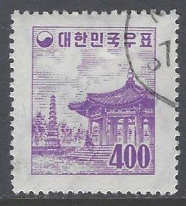 Korea, Scott #260; 400h Pagoda Park, Wmk 312, Used