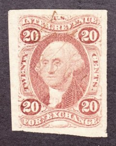 US R41a 20c Foreign Exchange Revenue Used VF SCV $95
