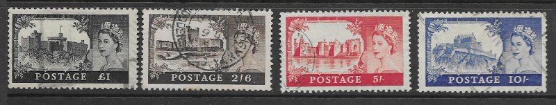 Great Britain 309-12 used cpl set, f-vf. see desc. 2020 CV $52.25