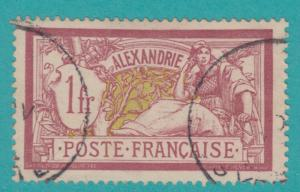French Offices: ALEXANDRIA EGYPT 28 1902  NO FAULTS EXTRA FINE !