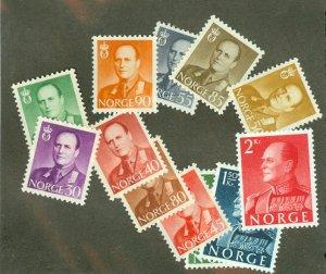 Norway 360-1, 363-5, 367-72 MNH CV $47