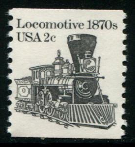1897A  2c Locomotive coil, Mint NH OG  VF