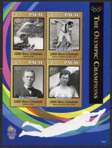 PALAU   2016  THE OLYMPIC CHAMPIONS ODA, GARRETT, CLARK & CONNOLLY SHEET MINT NH